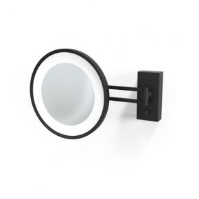 . Decor Walther BS36 чёрное матовое настенное косметическое зеркало с подсветкой LED и увеличением х5 или х3
