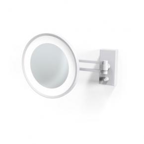 . Decor Walther BS36 белое матовое настенное косметическое зеркало с подсветкой LED и увеличением х5 или х3
