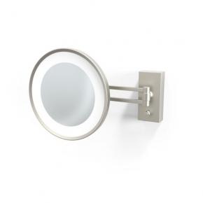 . Decor Walther BS36 никель сатин настенное косметическое зеркало с подсветкой LED и увеличением х5 или х3
