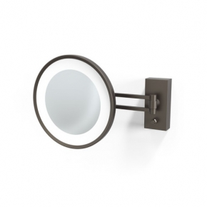 . Decor Walther BS36 бронза тёмная настенное косметическое зеркало с подсветкой LED и увеличением х5 или х3