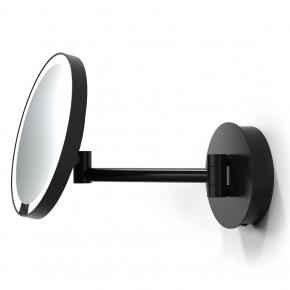 . Decor Walther Just Look чёрное настенное косметическое зеркало с подсветкой LED и увеличением х5