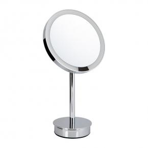 . Decor Walther Just Look SR хром настольное косметическое зеркало с подсветкой LED и увеличением х5