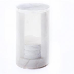Аксессуары для ванной настольные. Мраморные аксессуары для ванной Диспенсер для больших ватных дисков настольный