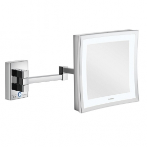 Зеркала косметические с подсветкой увеличением настенные настольные Зеркала с присосками. Aliseo LED CUBIK T3 косметическое зеркало с увеличением х3 и подсветкой настенное двойной шарнир