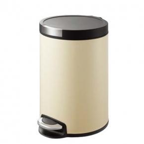 Мусорные баки и вёдра для кухни. EKO мусорное ведро с педалью из нержавеющей стали 12 и 20 литров Ваниль