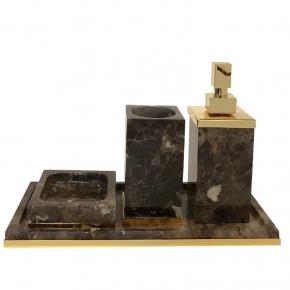 . Palace Emperador Gold мраморные аксессуары для ванной настольные Золото