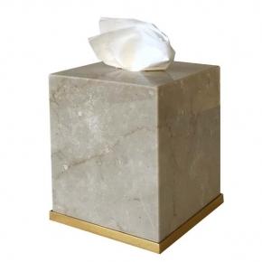 . Elegance Gold Botticino мраморная салфетница Золото куб