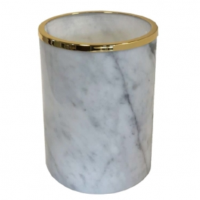 . Elegance Gold Bianco Carrara мраморное ведро Золото
