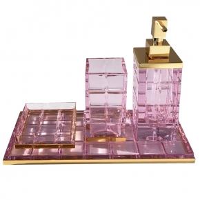 . Palace ROSA хрустальные аксессуары для ванной настольные Золото