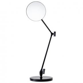 Зеркала косметические с подсветкой увеличением настенные настольные Зеркала с присосками. Настольное косметическое зеркало с длинными шарнирами и увеличением 1х5 Чёрное матовое