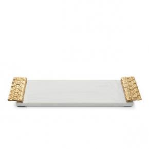 Аксессуары для ванной настольные. Michael Aram Пальмовая ветвь лоток поднос мраморный с декором Золото