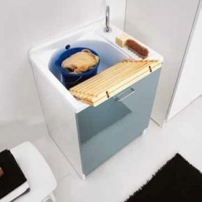 Итальянские постирочные раковины Мебель и оборудование для постирочной комнаты.  Постирочная раковина с тумбой Colavene Active Wash