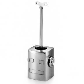 . Lineabeta Ёршик для унитаза напольный металлический Робот с ключом Robo