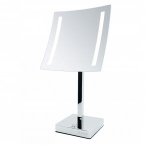 Зеркала косметические с подсветкой увеличением настенные настольные Зеркала с присосками.   AVA Nicol косметическое зеркало с подсветкой LED от батареек и пятикратным увеличением настольное