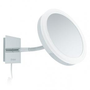 Зеркала косметические с подсветкой увеличением настенные настольные Зеркала с присосками.   SARA Nicol косметическое зеркало с подсветкой LED и пятикратным увеличением настенное