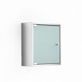 Зеркальные шкафчики Аптечки. Шкаф со стеклянной дверцей и полкой настенный PIKA Lineabeta