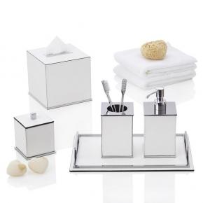 . Firenze настольные аксессуары для ванной комнаты кожаные GioBagnara