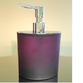 . Аксессуары для ванной Ellisse Violet фиолетовые стеклянные овальные Дозатор