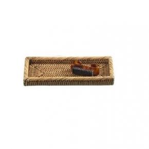 Мебель и Аксессуары для ванной из натурального дерева, Раттана и Бамбука. Плетёный лоток тёмный Раттан настольный косметический Ротанг Rattan