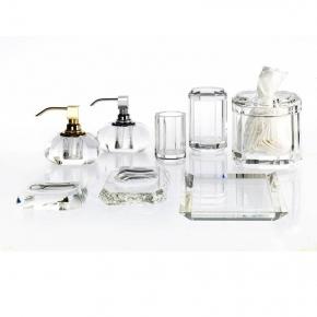 . Kristall KR Klar Decor Walther хрустальные настольные аксессуары для ванной