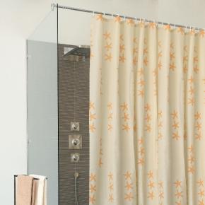 Шторки для душа и ванны текстильные. SHELL шторка для ванны и душа текстильная