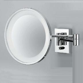 . Decor Walther Косметическое зеркало с подсветкой и увеличением 1х3 или 1х5 CHROME 40 настенное без провода