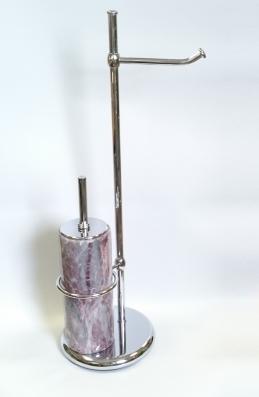 Стойки напольные с ёршиком бумагодержателем, полотенцедержателем и высокие. Стойка напольная с бумагодержателем и мраморным ёршиком Natura Marmores R