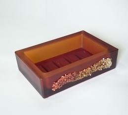 . Аксессуары для ванной Kalahari Bronze Marmores стеклянные Мыльница