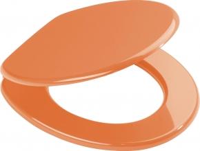 Сиденья для унитаза с крышкой. Aruba оранжевое сиденье с крышкой для унитаза