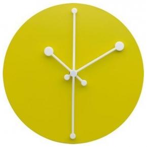 Часы. Часы настенные Dotty желтые
