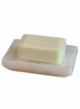 Аксессуары для ванной настольные. Blanca Alabaster Nicol Аксессуары для ванной настольные из натурального камня Мыльница