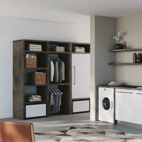 Итальянские постирочные раковины Мебель и оборудование для постирочной комнаты. Colavene Smartop мебель с раковиной постирочная комната шкаф с открытыми полками