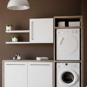 Итальянские постирочные раковины Мебель и оборудование для постирочной комнаты. Colavene Smartop мебель постирочная комната шкаф для встраивания стиральной и сушильной машины