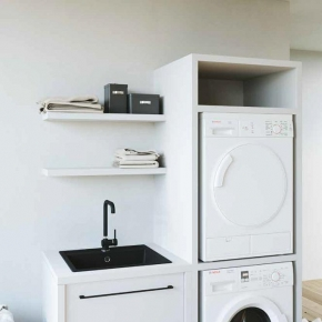 Итальянские постирочные раковины Мебель и оборудование для постирочной комнаты. Colavene Smartop мебель с раковиной постирочная комната шкаф для встраивания стиральной и сушильной машины
