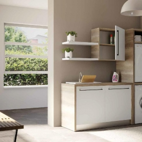 Итальянские постирочные раковины Мебель и оборудование для постирочной комнаты. Colavene Smartop мебель с раковиной постирочная комната шкаф для встраивания сушильной и стиральной машины