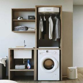 Итальянские постирочные раковины Мебель и оборудование для постирочной комнаты. Colavene Smartop мебель с раковиной постирочная комната шкаф с SMART-DRY сушилкой с вентилятором OAK