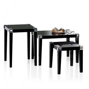 Журнальные Приставные Кофейные столы. Стол Horn & lacquer Black by Arcahorn Dado тёмный