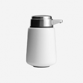 . Steel дозатор для жидкого мыла настольный белый
