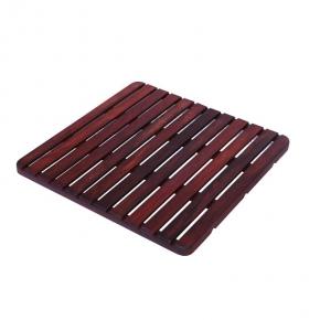 Деревянные коврики и решётки для душа и ванной комнаты. Деревянная решетка для ванной Розовое дерево 60х60