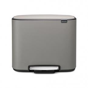 Мусорные баки и вёдра для кухни. Brabantia Bo мусорный бак с педалью Серый с эффектом минерального напыления 36 литров