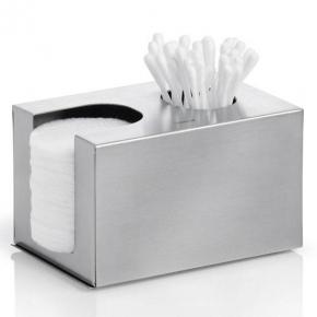 Аксессуары для ванной настольные. Blomus контейнер держатель для ватных палочек и дисков Nexio