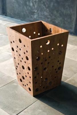 Мебель и Аксессуары для ванной из натурального дерева, Раттана и Бамбука. Корзина для белья BYBBLES Тиковая деревянная