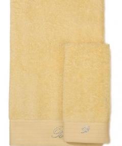 Полотенца хлопковые Deluxe. Комплект полотенец для лица и рук (40х60; 60х110) Crociera (Кросиера) Желтый от Blumarine