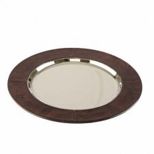 Аксессуары и Мебель для дома. Поднос круглый сервировочный WINSTON тёмно-коричневый