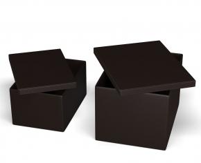 . Короб с крышкой коричневый прямоугольный Calligaris Clever кожаный