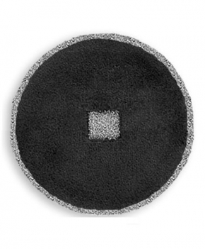 Коврики для ванной комнаты.  Коврик для ванной комнаты PIAZZA Nicol чёрный круглый люрекс серебро