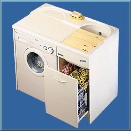 .  Мебель постирочная раковина с крылом для стиральной машины Белая Colavene