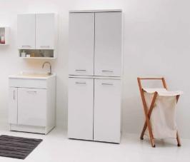 Итальянские постирочные раковины Мебель и оборудование для постирочной комнаты.  Постирочная раковина 60 см Bianco Colavene Jolly Wash мебель итальянская с корзиной для белья