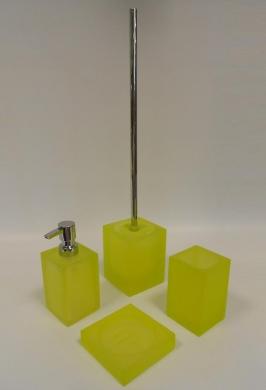 Аксессуары для ванной настольные. Cube Аксессуары для ванной зелёный лайм