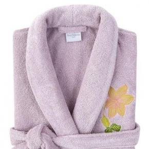 Халаты Одежда для бани и сауны Deluxe. Халат с шалью женский (S; M; L) Clematis (Клематис)